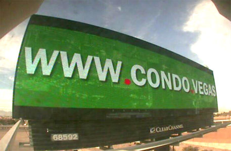The real Condo.Vegas billboard in Las Vegas